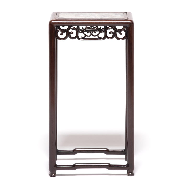Art Deco Chinese Marble Top Deco Plant Stand For Sale