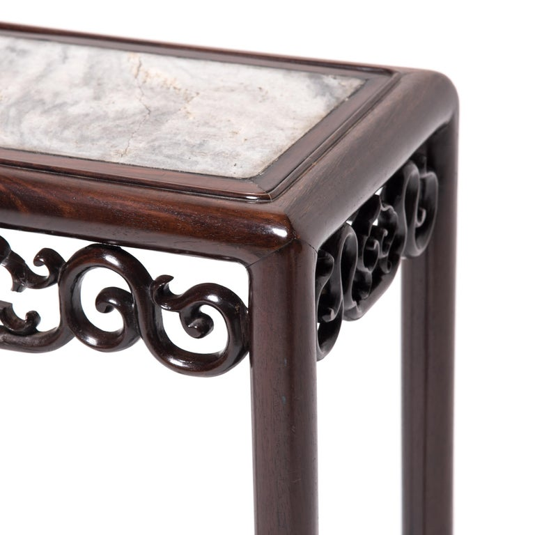 Other Chinese Marble Top Deco Plant Stand For Sale
