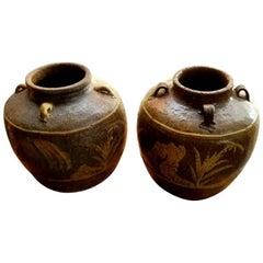 Chinese Martaban Stoneware Storage Jars