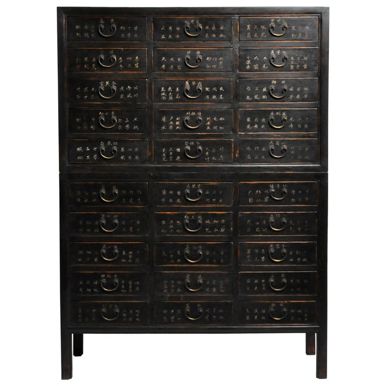 Chinese Medicine Chest with Drawers For Sale