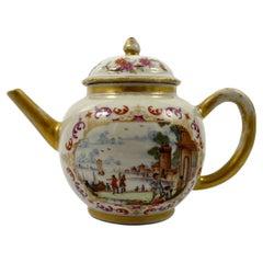 Chinese 'Meissen' Porcelain Teapot, c. 1760, Qianlong Period