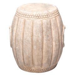 Chinese Melon Form Marble Drum