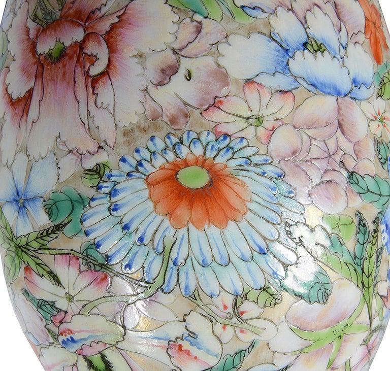 Chinese Millie Fleur Porcelain Vase, circa 1910 For Sale 1
