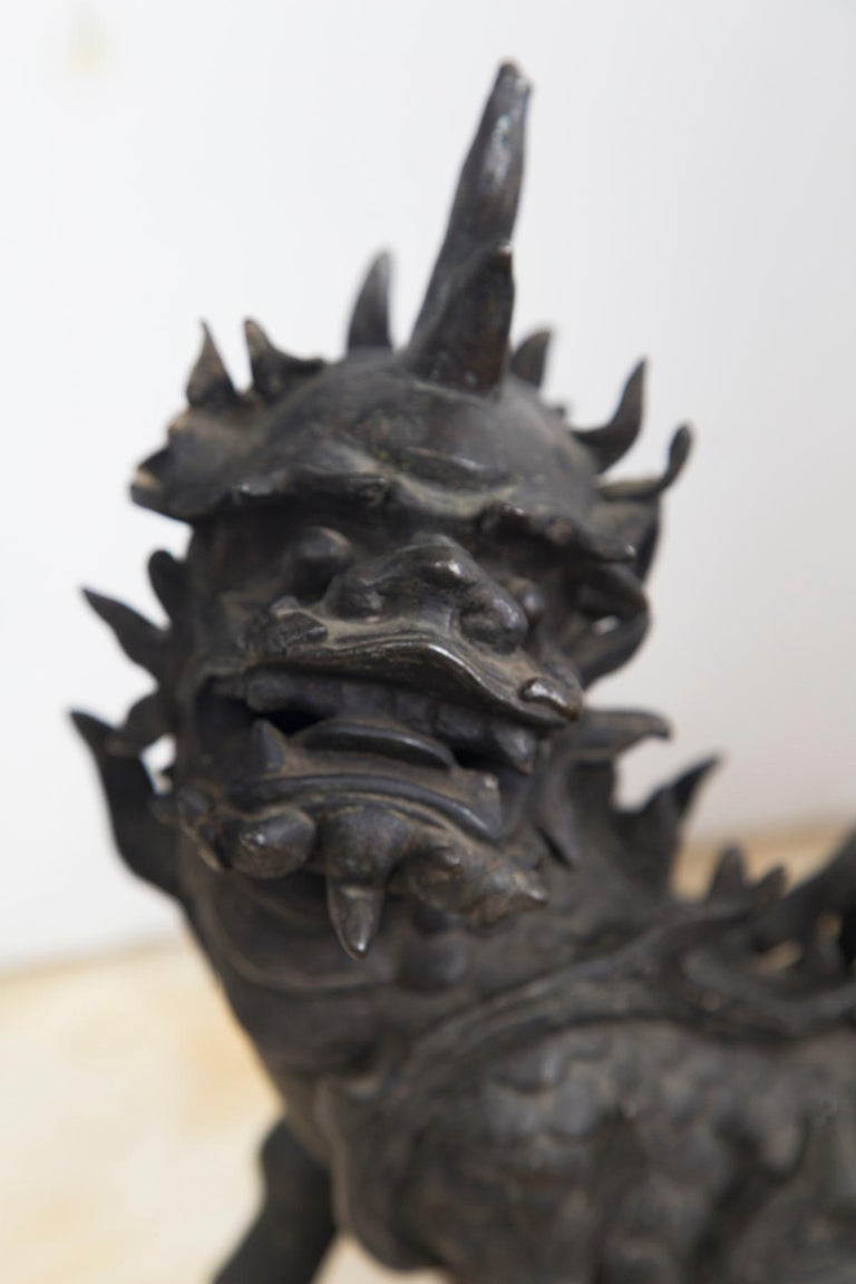 Chinese Ming Dynasty Bronze Kylin For Sale 1