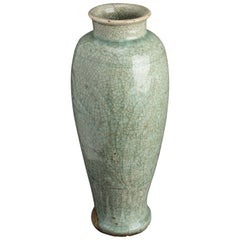 Chinese Ming Dynasty Celadon Porcelain Vase