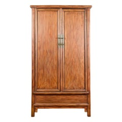 Chinese Ming Dynasty Style 19th Century Noodle Cabinet with Tapering Silhouette