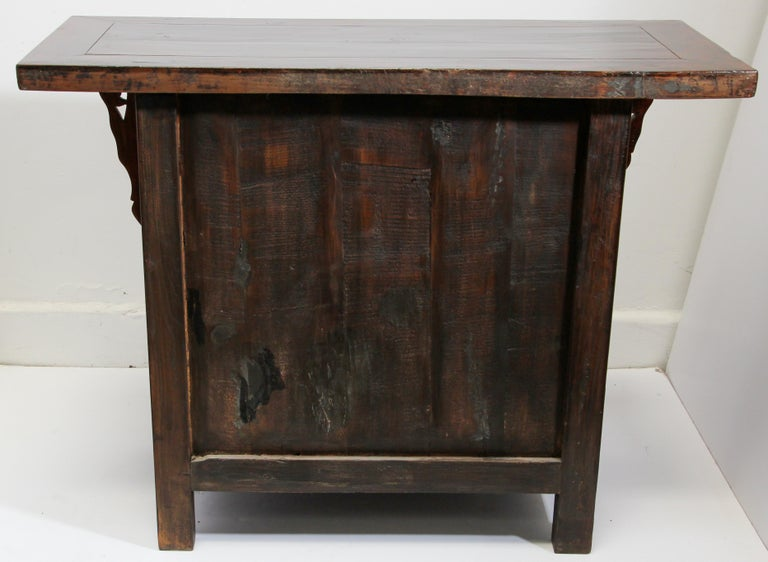 Chinese Ming Dynasty Style Altar Red Lacquered Cabinet For Sale 8