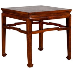 Chinese Ming Dynasty Style Early 20th Century Side Table with Humpback Stretcher