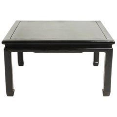 Chinese Ming Style Black Lacquer Coffee Table