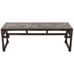 Chinese Ming Style Black Lacquered Coffee Table