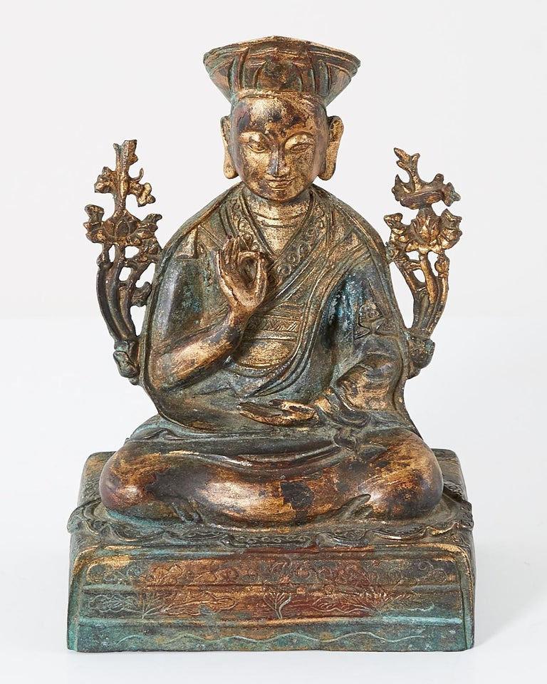 Chinese Ming Style Bronze Metal Seated Buddha For Sale 1