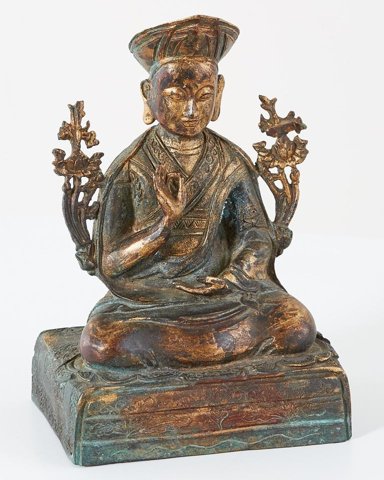 Chinese Ming Style Bronze Metal Seated Buddha For Sale 3