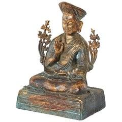 Chinese Ming Style Bronze Metal Seated Buddha