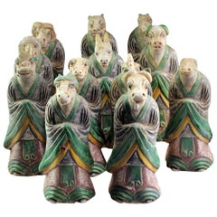 Chinese Ming Zodiac Complete Collection Sculptures, 1368-1644