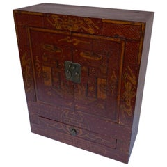 Chinese Mini Cabinet or Jewelry Box