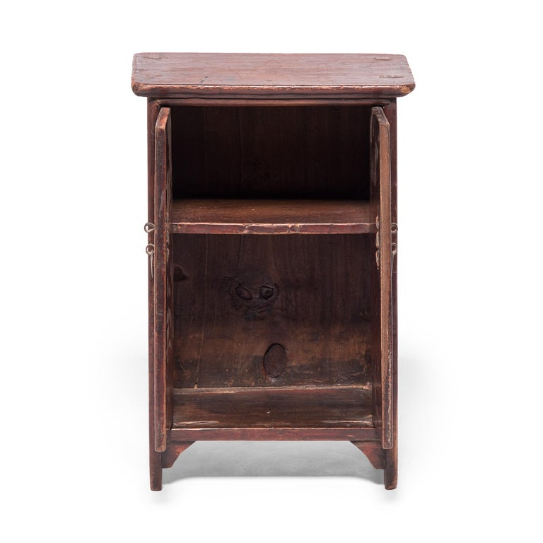 A treasure of a chest, this charming miniature cabinet is named for the narrow, rounded molding that surrounds the frame and resembles noodles. Lacquered rich red, the small cabinet exhibits the same high level of craftsmanship found in larger such