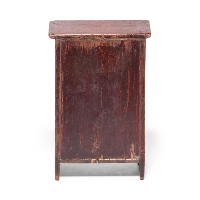 Hand-Painted Chinese Miniature Noodle Cabinet For Sale