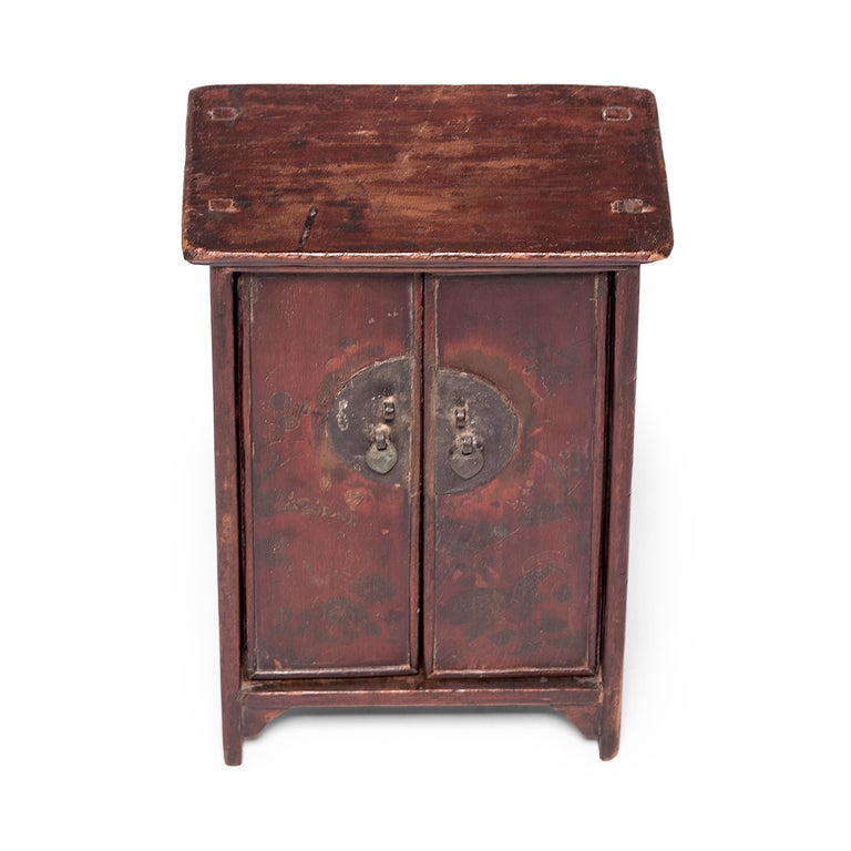 19th Century Chinese Miniature Noodle Cabinet For Sale