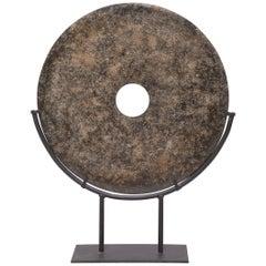 Chinese Mottled Hardstone Bi Disc