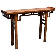 Chinese Narrow Altar Table, Double Sided