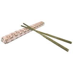Chinese Natural Handmade Bowenite Chopsticks