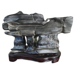 Chinese  Natural  Viewing Stone Scholar Rock Old Shanghai collection