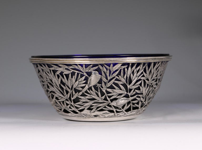 Chinese Open Work-Silver Bowl by Luen Wo, circa 1900 In Good Condition For Sale In Frome, Somerset