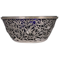 Chinese Open Work-Silver Bowl by Luen Wo, circa 1900
