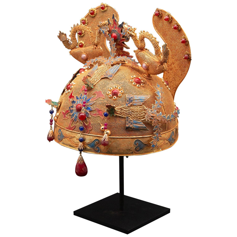 Chinese Opera Theater Headdress, Dragons