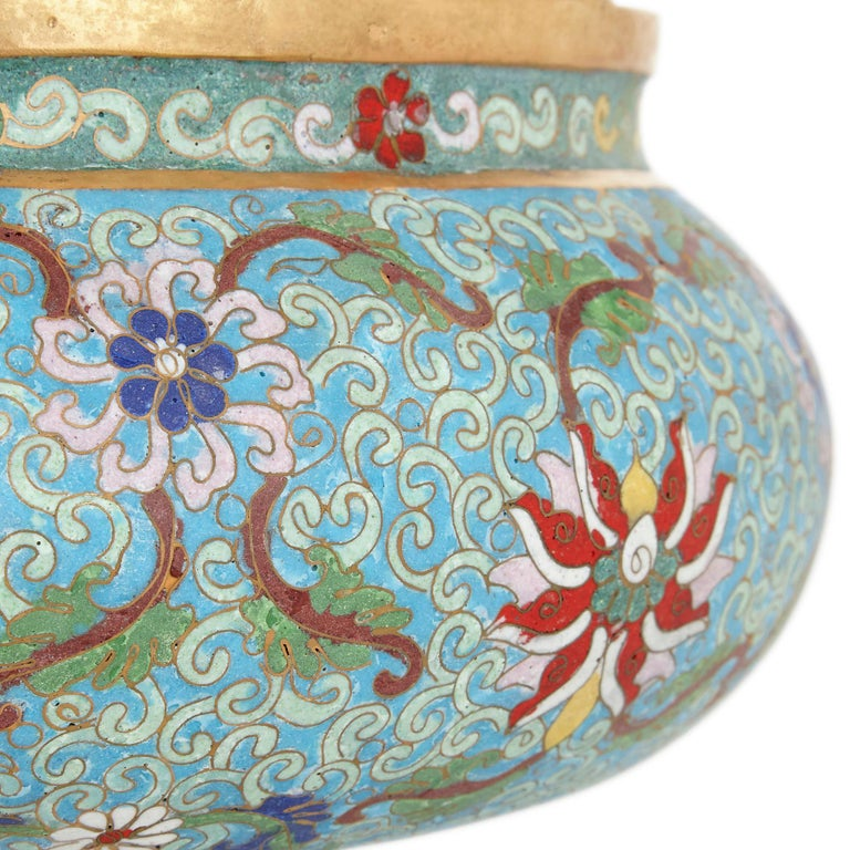 Cloissoné Chinese Ormolu and Cloisonné Enamel Vase for the Islamic Market For Sale
