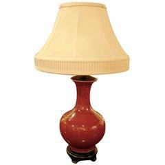 Chinese Ox Blood Vase Mounted as Lamp