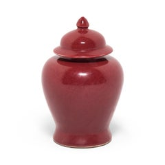 Chinese Oxblood Ginger Jar