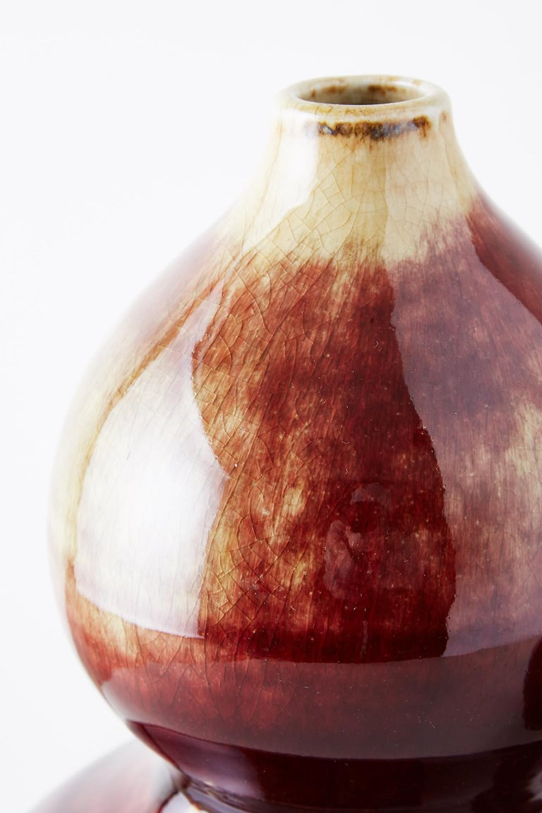 Chinese Oxblood Sang De Boeuf Langyao Double Gourd Vases For Sale 1