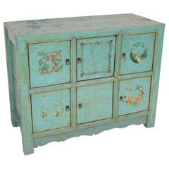 Chinese Painted 6 Door Cabinet