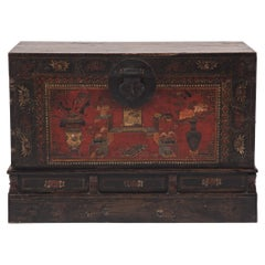 Chinese Painted Book Chest, c. 1850