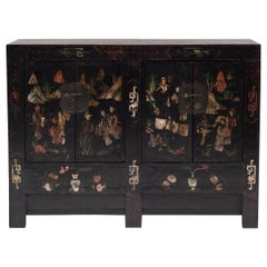Chinese Painted Garden Coffer, circa 1850