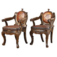 Chinese Parcel Giltwood Continental Fauteuils