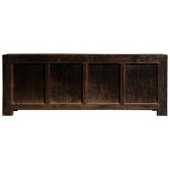 Chinese Patinated Wood Sideboard