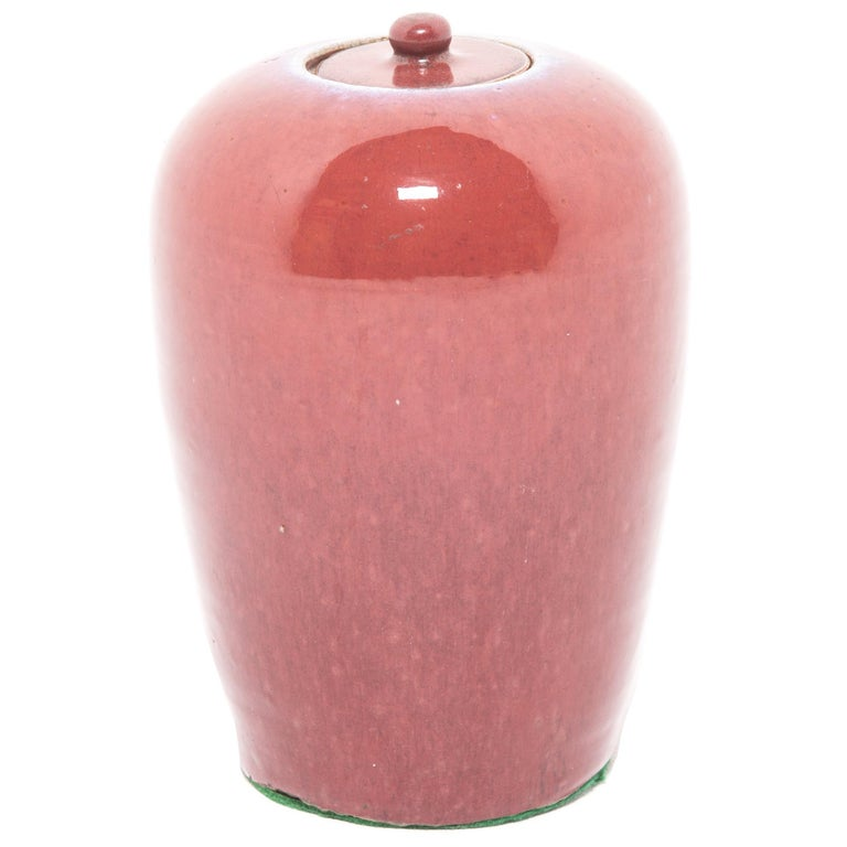 Chinese Peach Blossom Ginger Jar For Sale