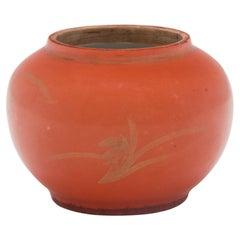 Chinese Petite Gilt Persimmon Jar, c. 1930