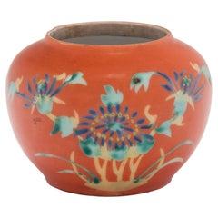 Chinese Petite Persimmon Chrysanthemum Jar, c. 1930