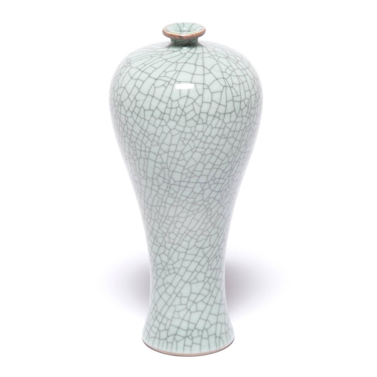 Chinese Petite Tapered Crackled Vase For Sale At 1stdibs