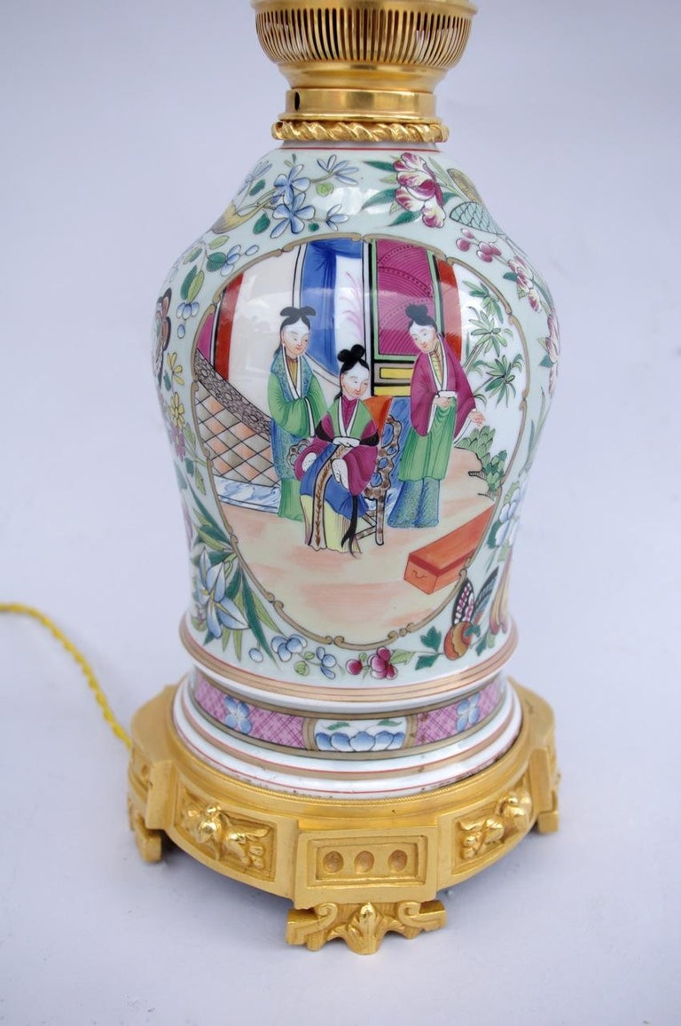 Chinese Pink Family Style Porcelain Lamp Circa 1880 For Sale At 1stdibs