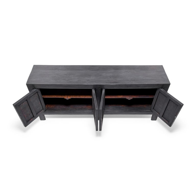 Modern Chinese Plank Slate Herdsman's Chest For Sale