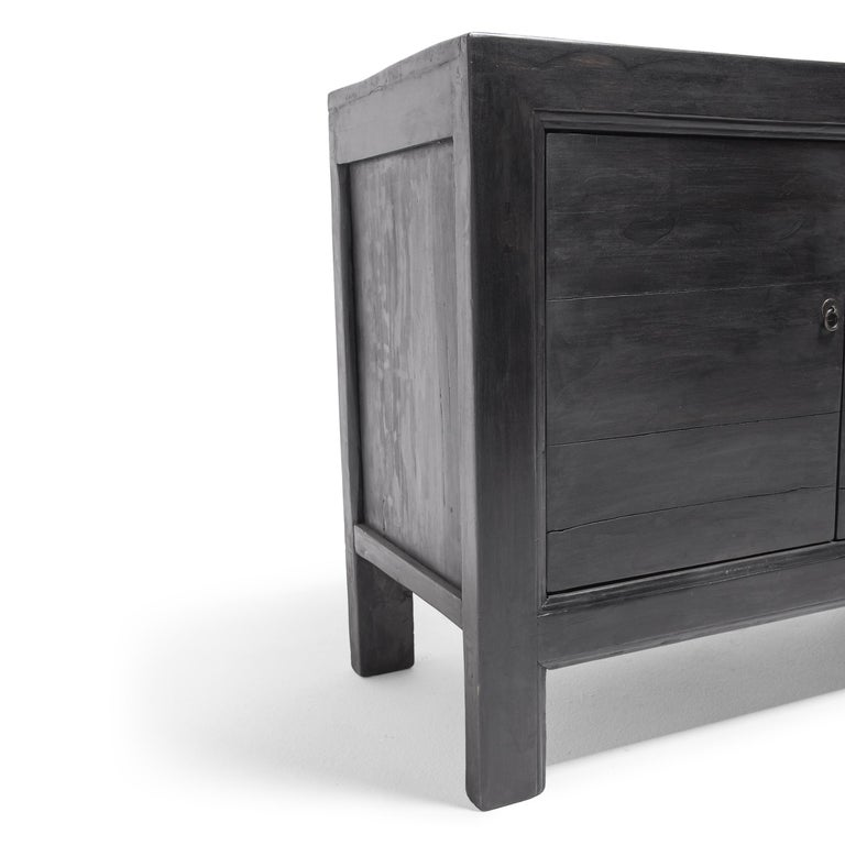 Elm Chinese Plank Slate Herdsman's Chest For Sale