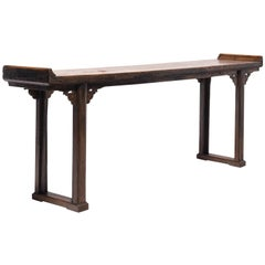 Chinese Plank Top Altar Table, circa 1800