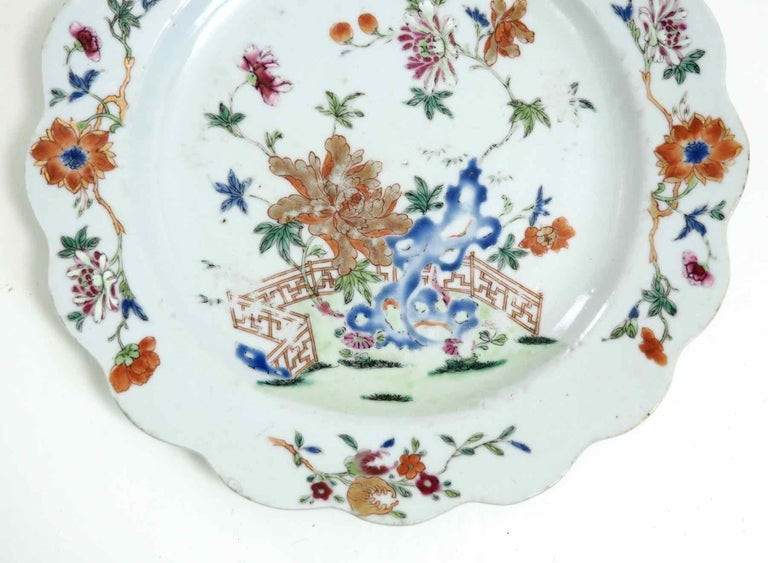 Chinese Plate, 18th Century In Good Condition For Sale In Aalsgaarde, DK