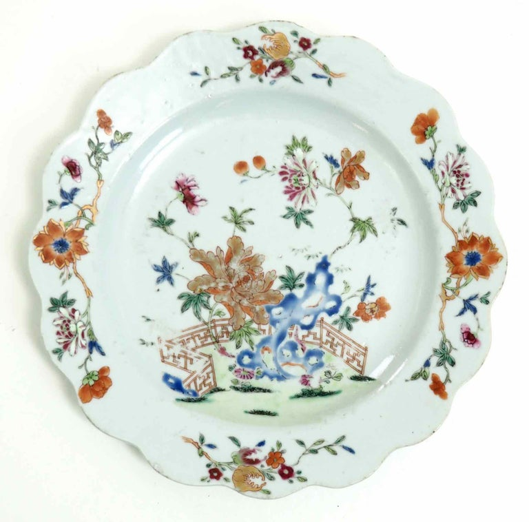 18th Century and Earlier Chinese Plate, 18th Century For Sale