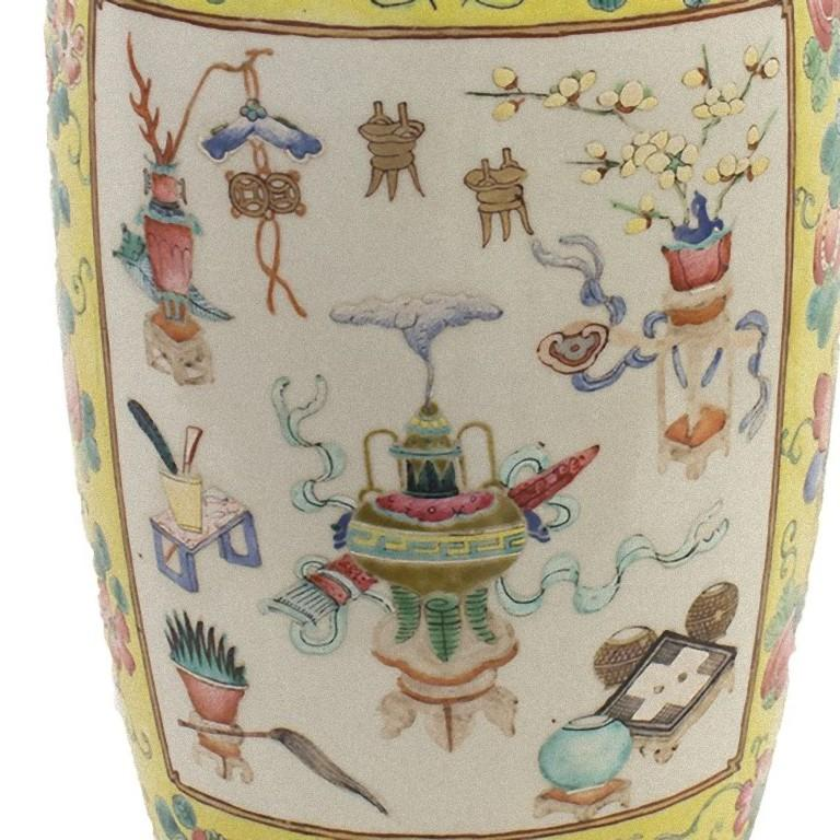 Chinese Polychrome Vase, China, Early 20th Century In Good Condition For Sale In Roma, IT
