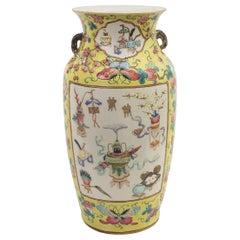 Chinese Polychrome Vase, China, Early 20th Century